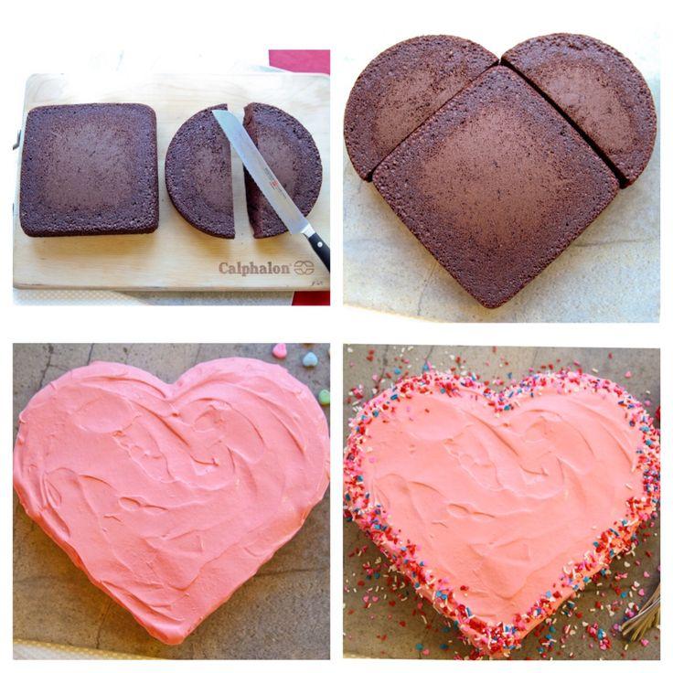 Jak udělat dort ve tvaru srdce